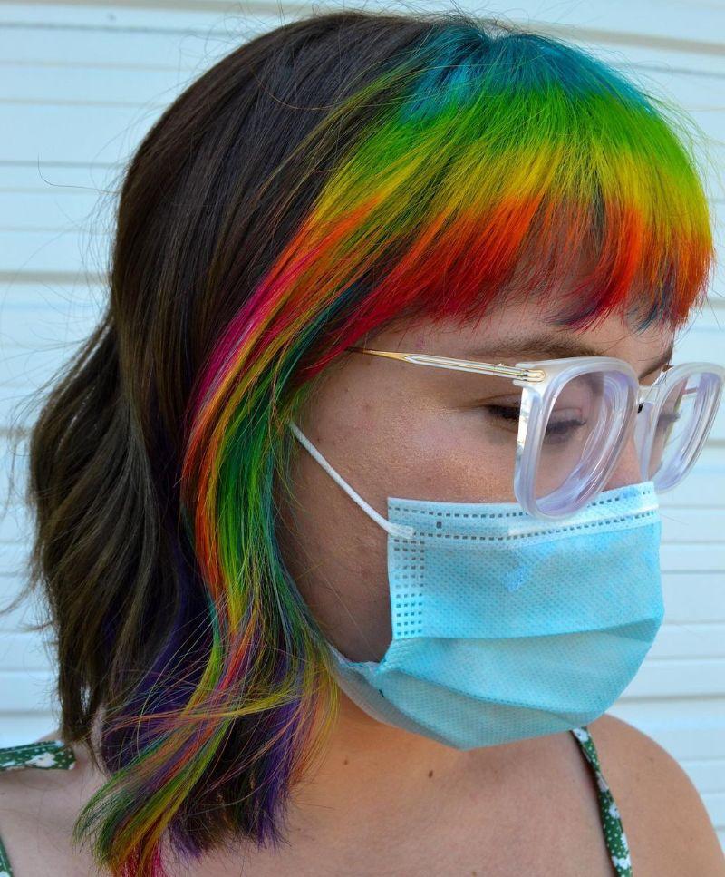 Rainbow Colored Fringe