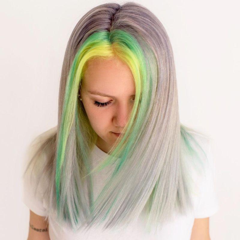 Pastel Dyed Bangs