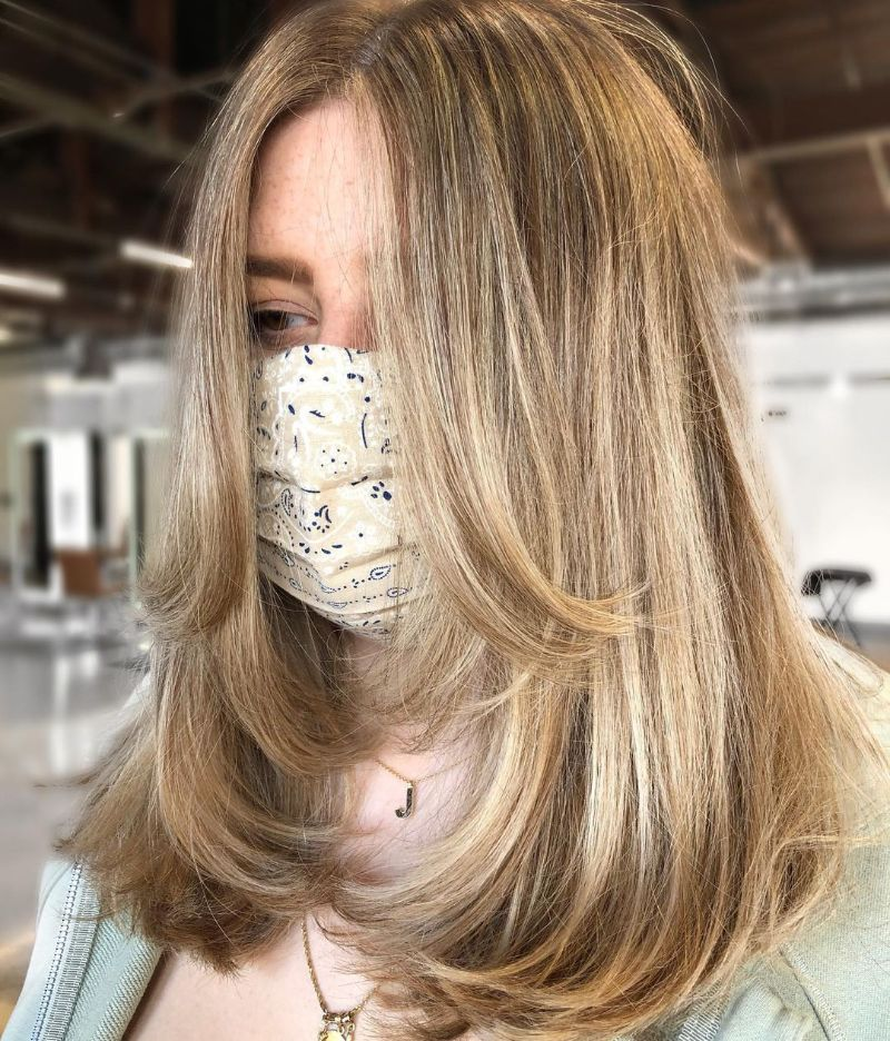 The Rachel Haircut with Long Bangs