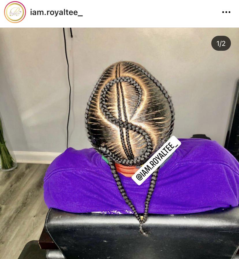 Stitch Braids Hairstyle in Dollar Shape