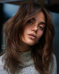 Modern Rachel Haircut Brunette Chocolate Brown