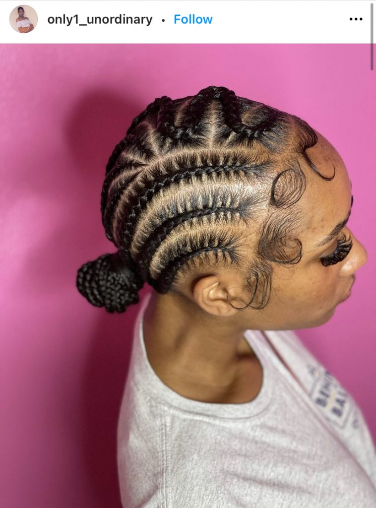 Stitch Braids for Thin Curly Hair with Baby Hairs in the Front