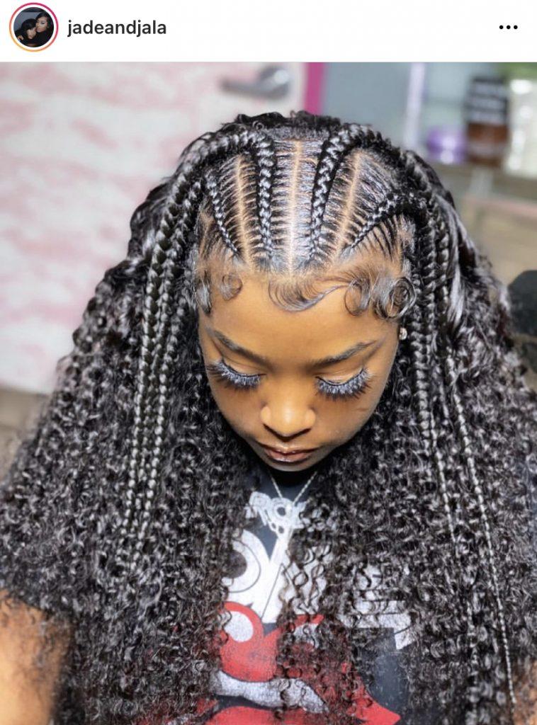 Stitch Braids with Full Curls
