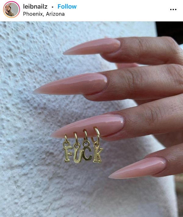 Pierced Nails with Letters