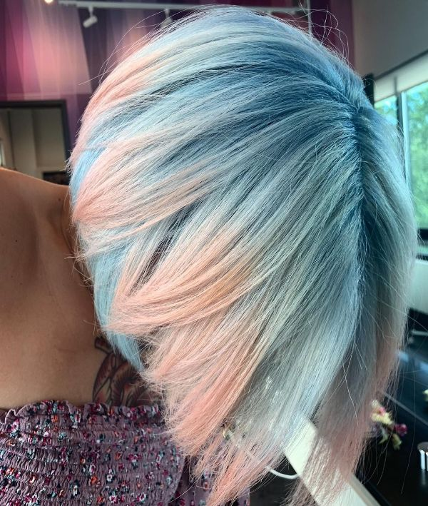 Pale Blue and Pink Hair