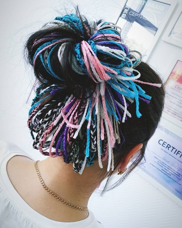 Pink and Blue Braids
