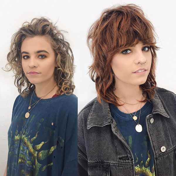 Shaggy Mullet for Girls