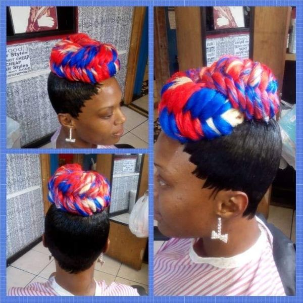 4th of July Hairstyle for Natural Hair