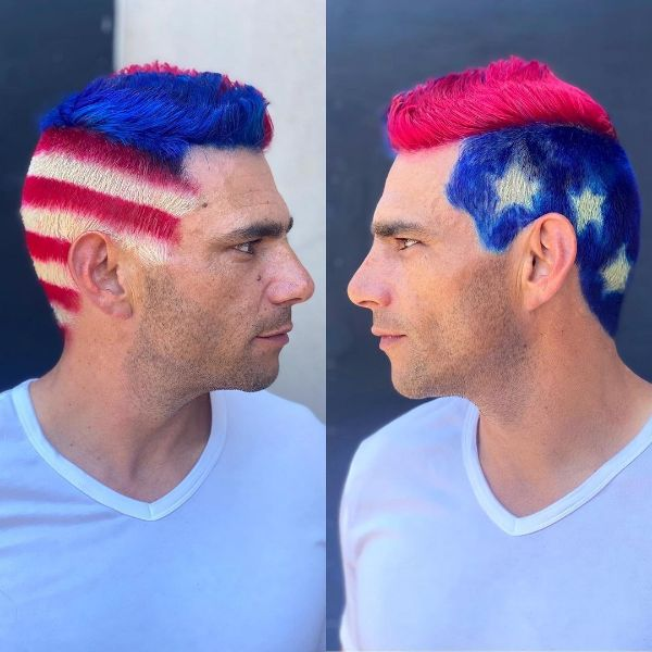 4th of July Hair for Men