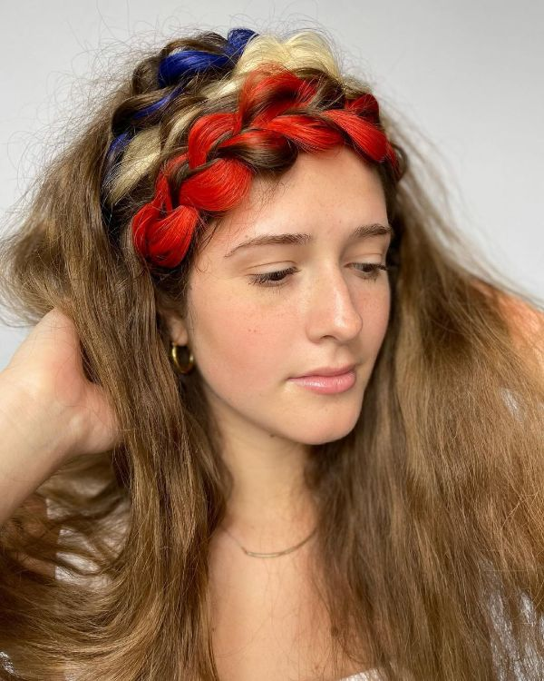 4th of July Hair with Plaited Braids