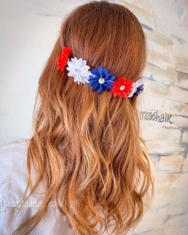 4th of July Hair with a Headband