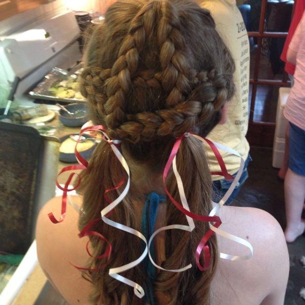 Patriotic 4th of July Hair Pigtail