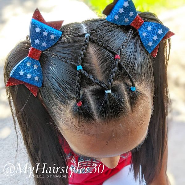 4th of July Hair for Teenage Girls
