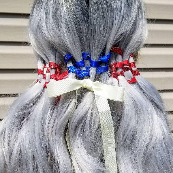 4th of July Hair Plaits