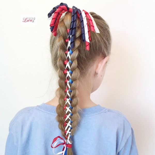 4th of July Hair for Little Girls