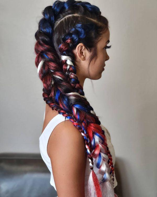 4th of July Hair Braid