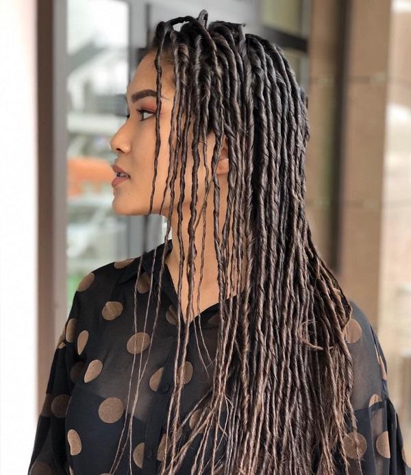 Eco Dreads Long Dark Brunette