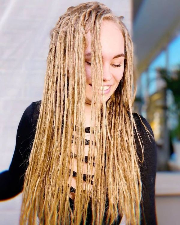 Eco Dreads Wheat Blonde Long