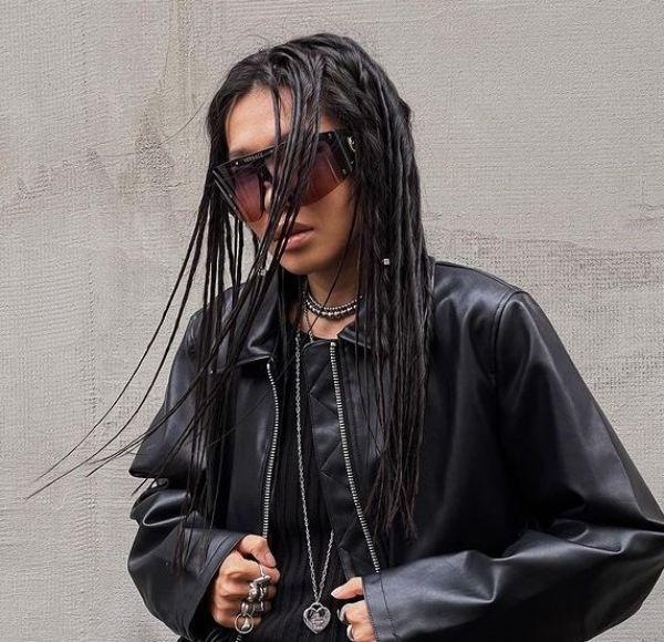Dark Brunette Black Hair Eco Dreads