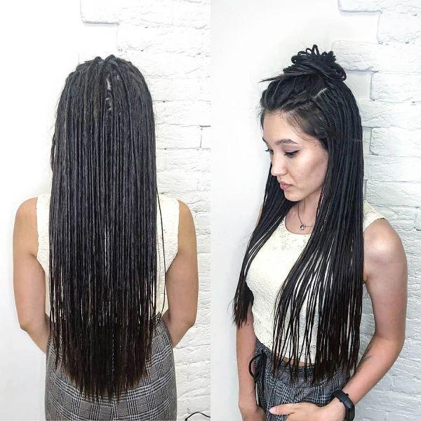 Long Black Eco Dreads